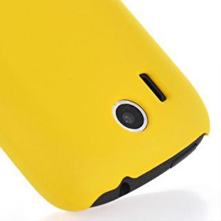 Hard Rubber Schale Case Hülle Cover für HTC Explorer Pico A310e Gelb