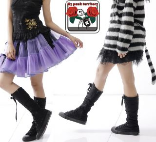 My Punk Territory Gothic Noir LET IT ROCK Emo Boots 39