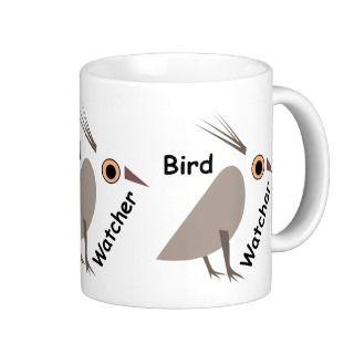 Cute Weird Abstract Bird Watcher Mugs