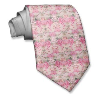 Girly keep calm..Vintage pink elegant floral roses Neck Wear
