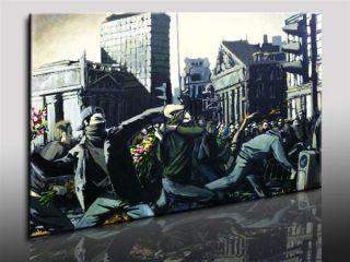 Leinwandbild Banksy Graffiti   Street Art Kunstdrucke Wandbilder
