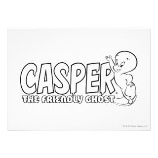 Casper the Friendly Ghost Logo 2 Custom Invites