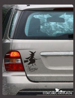 A316  Hexe Hexen Name Auto Aufkleber Autoaufkleber Sticker Gothic