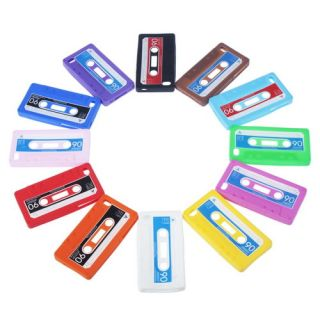 Retro Stylish Cassette Tape Soft Silicone Case Cover For Apple iPhone