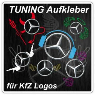 S019  Aufkleber Tuning Kfz Logo Mazda VW Opel BMW Sticker Shocker