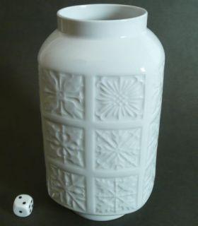 Edelstein Bavaria Vase 60er 70er Jahre weiße Vase