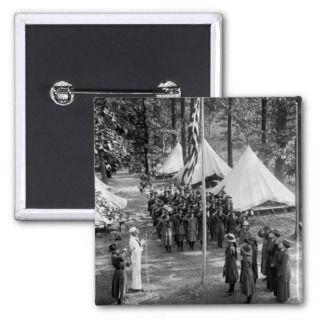 Girl Scout Flag Raising 1919 Pins