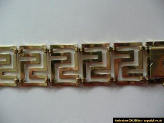 Art Deco breites Armband perfekter Zustand Mäander Golddoublé