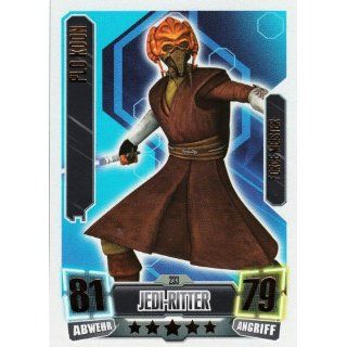 Star Wars Force Attax Serie 2 Einzelkarte 233 Plo Koon Jedi Ritter