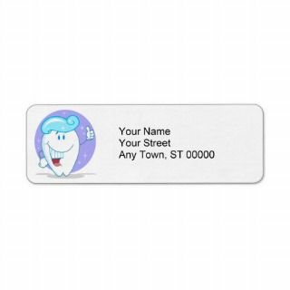 cute happy clean sparkling tooth cartoon character custom return