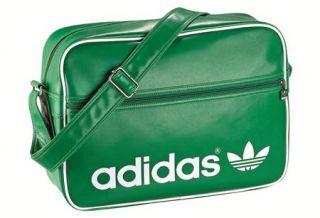 Adidas Originals AC Airline Bag Tasche Grün Weiß Neu X25404