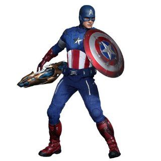 HOT TOYS MARVEL AVENGERS MOVIE CAPTAIN AMERICA 16 SCALE FIGURE