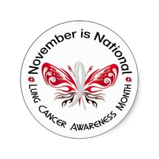 Lung Cancer Awareness Month Butterfly 3.3 Sticker