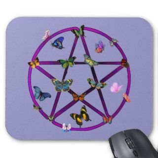 Wiccan Sar and Buerflies Mouse Mas