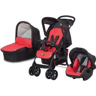 Hauck 153109 Kinderwagenset Shopper 11 Trio Set wheel red