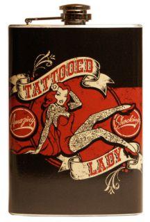 Tattooed Lady Flask Flask