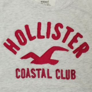 NEU ★HOLLISTER★ DAMEN T SHIRT COASTAL CLUB HELL GRAU GR. S