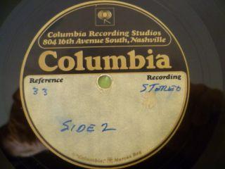 JOHNNY CASH STRAWBERRY CAKE WHITE LABEL PROMO COPY + COLUMBIA ACETATE
