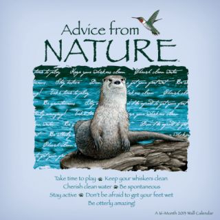 Advice from Nature   2013 Linen Calendar Calendars