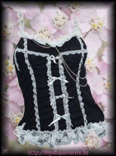 Spitzen Rüschen Top Kyoko Gothic Lolita Visual Kei Rockabilly S M L
