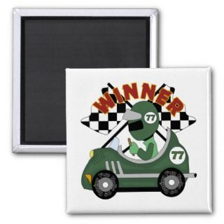 Race Car Winner Kids Gift Fridge Magnet