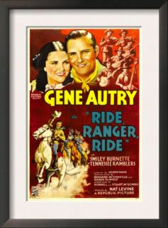Ride, Ranger, Ride, Kay Hughes, Gene Autry, the Tennessee Ramblers, 1936 Poster