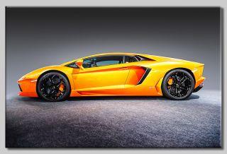 Leinwand Bild Lamborghini Aventador Supersportwagen Sport Luxus Speed