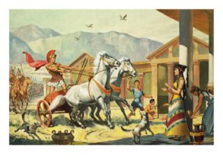 The Nine Year Siege of Troy Giclee Print by McConnell