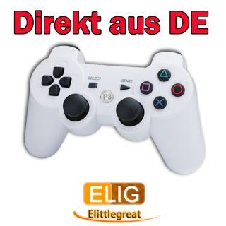 Weiss Funk Bluetooth Controller/Gamepad Wireless für Sony PS3