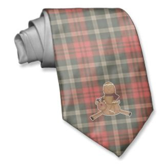 flying reindeer gingerbread man necktie