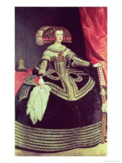 Queen Maria Anna of Spain (1635 96), Wife of King Philip IV of Spain (1605 65), circa 1653 Giclee Print by Diego Velázquez