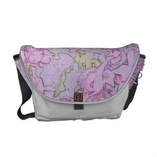 Mauve Double Lilac Color Pencil Messenger Bag