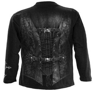 Gothic Biker Metal T Shirt Hemd Longsleeve Pirat Vampir schwarz XL Neu