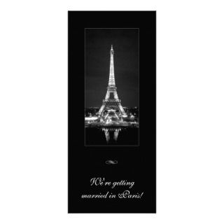 Pink Scrolls and Eiffel Tower Personalized Invitations