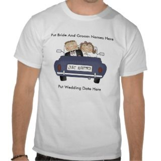 Personalized Just Married T Shirt