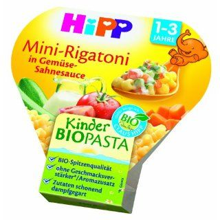 Hipp Kinder Pasta Mini Rigatoni 7885, 6er Pack (6 x 260 g Stück