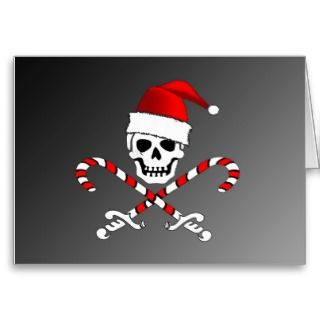 Pirate Jolly Roger Santa Christmas Card 2