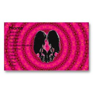 Back Heart Hypnosis Business Card Template