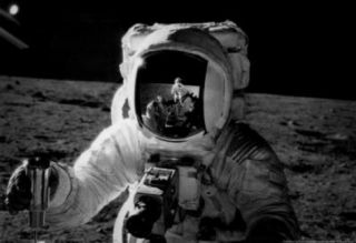 Astronaut on the Moon Archival Photo Poster Masterprint