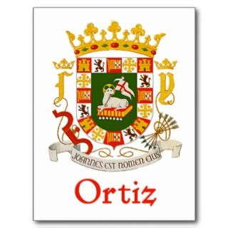 Ortiz Shield of Puerto Rico Post Card