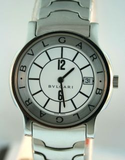 Bvlgari Solotempo ST 35 S Stainless Steel White Dial 35mm Watch
