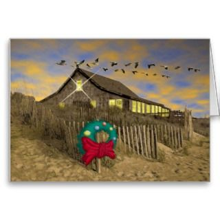 Beach House Christmas Card H