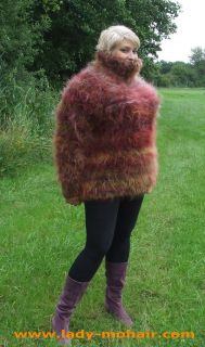 Mohair soft X  FUZZY SWEATER PULLOVER T NECK L XXL