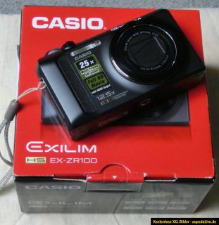 CASIO Exilim EX ZR100 Highspeed Digitalkamera 12,1 MP 2GB SD Karte