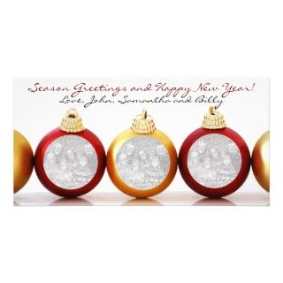 Christmas Tree Ornament Photo Cards
