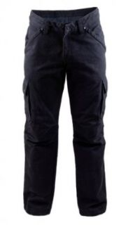 King Kerosin Denim Red Baron Cargo Style Hose   schwarz
