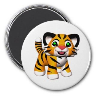 3D Cartoon Tiger Cub Magnet