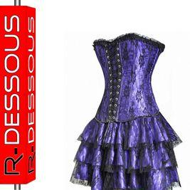 Corsagekleid Mini Kleid Corsage lila Petticoat #361#