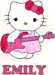 WINDOW COLOR Fensterbild Bild Hello Kitty Gitarre Name
