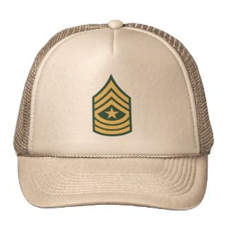 Army Sergeant Major Hat